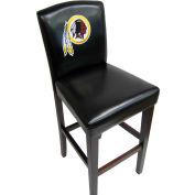 "Washington Redskins Pub Stool, 17""W x 19""D x 44""H, Black Synthetic Leather, 2/PK"