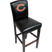 """Chicago Bears Pub Stool, 17""""W x 19""""D x 44""""H, Black Synthetic Leather, 2/PK"""