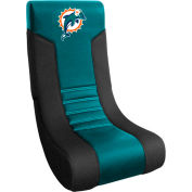 "Miami Dolphins Video Chair, 16""W x 17""D x 30""H, Teal Microfiber"