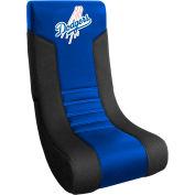 "L.A. Dodgers Video Chair, 16""W x 17""D x 30""H, Blue Microfiber"