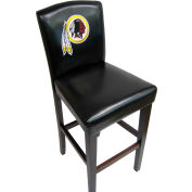 "Washington Redskins Counter Stool, 17""W x 19""D x 38""H, Black Synthetic Leather, 2/PK"