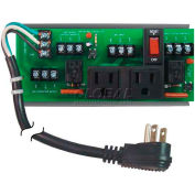 RIB® UPS Interface Board PSMN2C2RB10, 10A Breaker/Switch, 120VAC, 2 Outlets, Power Cord, Status