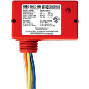 RIB® Enclosed Relay RIB2402D-RD, 10A, DPDT, 24VAC/DC/208-277VAC, Red Housing