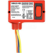 RIB® Enclosed Switch SIB02S-RD, 20A, Maintained 3 Position, Center Off, 3 Wire, Red Housing