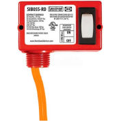 RIB® Enclosed Switch SIB05S-RD, 20A, Maintained 2 Position 2 Wire, Red Housing