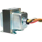 RIB® Transformer TR50VA015, 50VA, 480/277/240/208/120-24V, 1 Hub, Foot Mount, Circuit Breaker
