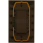 RIB® EnOcean® Enabled Wireless Wall Transmitter Switch WST-EN-BR, 315MHz, Brown