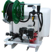 "100 Gallon DeIcing Sprayer, 5Hp / GE85 Pump, 150' of 1/2"" Hose, Manual Reel"
