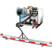 "200 Gallon DeIcing Sprayer, 5.5Hp / GE660 Pump, 75' of 1/2"" Hose, Manual Reel, 7' Pro-Boom"