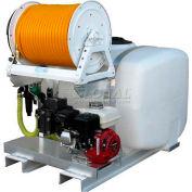 """50 Gallon Skid Sprayer, 5.5Hp / K25 Pump, 150' of 3/8"""" Hose, Manual Reel"""