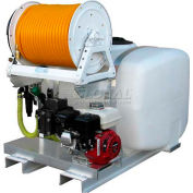 "100 Gallon Skid Sprayer, 5HP / 4101C Pump, 150' of 3/8"" Hose, Manual Reel"