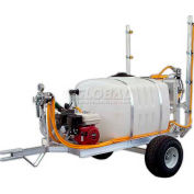 "100 Gallon 2-Wheel Trailer Sprayer, 5Hp / 4101C Pump, 50' of 3/8"" Hose, 12' Boom"