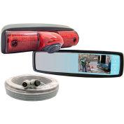 "Rosco 4.3"" LCD Rearview Mirror/Monitor Display, Nissan NV Integrated Brake Light Cam - STSK4536"