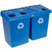 Rubbermaid Glutton® 1792372 Waste and Recycling Station - Blue