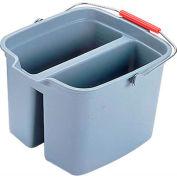 Rubbermaid® Brute 17 Qt. Double Pail Bucket, Gray - RCP2617GRA - Pkg Qty 6