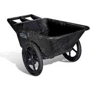 Rubbermaid® Big Wheel® 5642 Black Utility Agriculture, Nursery & Farm Cart