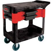 Rubbermaid® 6180 Black Trades Cart