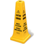 """Rubbermaid® 6277-77 4-Sided Multi-Lingual Caution/Wet Floor Safety Cone 25-5/8""""H"""