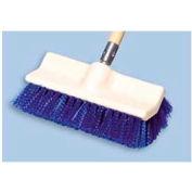 "Rubbermaid® 10"" Bi-Level Plastic Deck Scrub Brush W/ Polypropylene Fibers, Blue - RCP6337BLU - Pkg Qty 6"