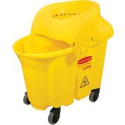 Rubbermaid Wavebrake® 8-3/4 Gallon Institutional Bucket/Strainer Combo, Yellow - RCP759088YEL