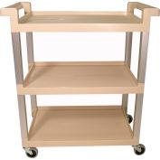 Rubbermaid® 9T65-71 Three-Shelf Beige Service Cart