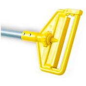 "Rubbermaid® 60"" Invader Side Gate Wet-Mop Handle, Yellow/Aluminum - RCPH126 - Pkg Qty 12"