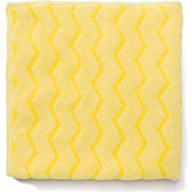 """Rubbermaid® Reusable Microfiber Cleaning Cloths 16"""" x 16"""", Yellow 12/Case - RCPQ610"""