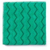 "Rubbermaid® Reusable Microfiber Cleaning Cloths 16"" x 16"", Green 12/Case - RCPQ620"
