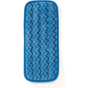 "Rubbermaid® Microfiber Wall/Stair Wet Mop Pad 13-3/4"" x 5-1/2"", Blue 6/Pack - RCPQ820BLU"