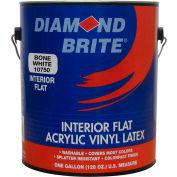 Diamond Brite Interior Flat Latex Enamel Paint, Bone White Gallon Pail 1/Case - 11750-1