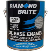 Diamond Brite Oil Enamel Gloss Paint, Black Gallon Pail 1/Case - 31100-1