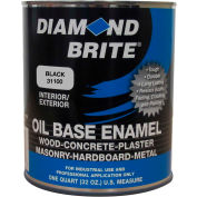 Diamond Brite Oil Enamel Gloss Paint, Black 32 Oz. Pail 1/Case - 31100-4