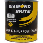 Diamond Brite Latex Gloss Enamel Paint, Satin Black 32 Oz. Pail - 81250-4