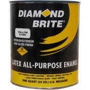 Diamond Brite Latex Gloss Enamel Paint, Yellow 32 Oz. Pail - 81300-4