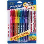 Staedtler® Maxum Ballpoint Pen, Rubber Barrel, 1.6mm, Assorted, 8/Pack