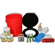 Ready America® 71641 Toilet Bucket Kit, 4-10 persons