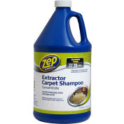 Zep® Commercial Extractor Carpet Shampoo Concentrate, Gallon Bottle, 4 Bottles - ZUCEC128