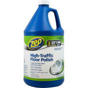 Zep® High-Traffic Floor Polish, Gallon Bottle, 4 Bottles - ZUHTFF128