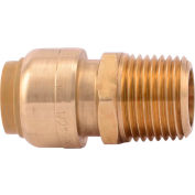 SharkBite U120LF Male Connector, Push To Connect, 1/2 In - Pkg Qty 12