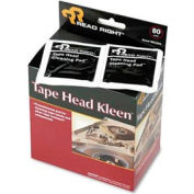 Tape Head Kleen Pad, Individually Sealed Pads, 80/box