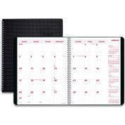 Brownline® DuraFlex 14-Month Planner, 8.88 x 7.13, Black, 2022