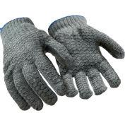 Value Honeycomb Grip Glove, Gray - Large - Pkg Qty 12