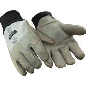 Dipped Deerskin Glove, Gray - Medium