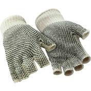 Fingerless Dot Grip Glove, Natural - Large - Pkg Qty 12