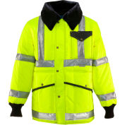 HV HiVis™ Jackoat™ Tall, HiVis Lime-Yellow with Reflective Tape - 4XL