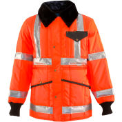 HV HiVis™ Jackoat™ Tall, HiVis Orange with Reflective Tape - 5XL