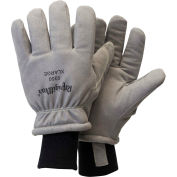 RefrigiWear Deertex™ Synthetic Leather Gloves, Gray, -20°F Comfort Rating, XL