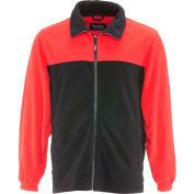 RefrigiWear® Standard Fleece Jacket, Black/Red, 40° Comfort Rating, 4XL, 0389RBKRD4XL
