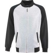 RefrigiWear Baseball Fleece Sweatshirt, Black/Gray, S