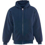 Insulated Quilted Sweatshirt Regular, Navy - Large